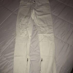 MNML M59 distressed zipper jeans